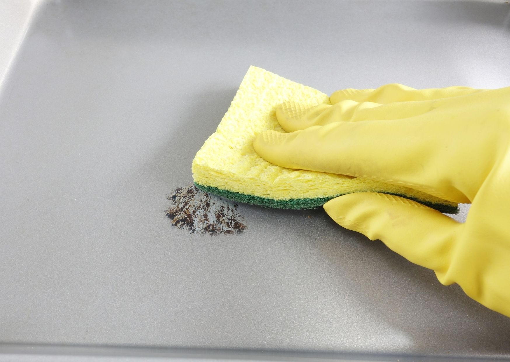 What is the best kind of cleaning agent for burned-on grease?